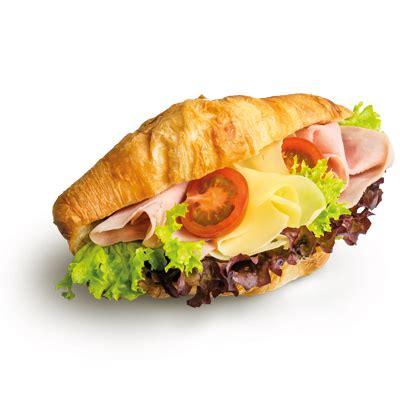 Croissant so šunkou a syrom