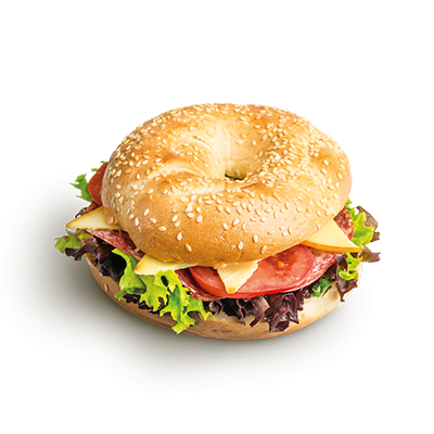 Bagel so salámou
