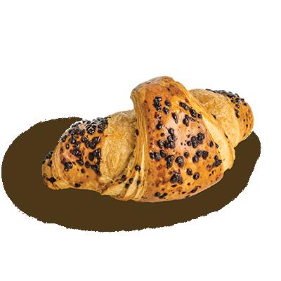 Croissant orieškovo-čokoládový