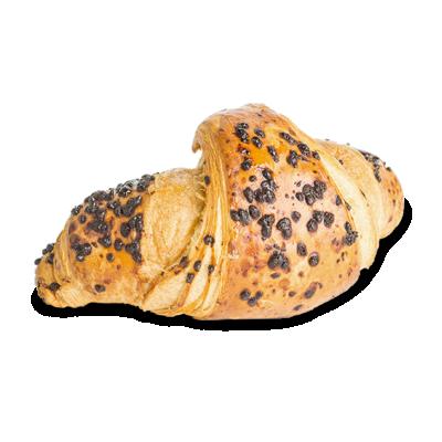 Croissant s lieskovo - orieškovou náplňou a čokoládou