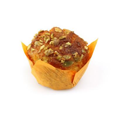 Muffin mrkvový s tekvicovým posypom